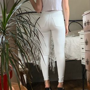 Free People White Skinny Stretch Jeans